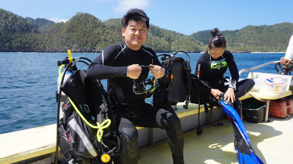 Finish work in Jakarta. Wake up the next morning in Raja Ampat. Go diving