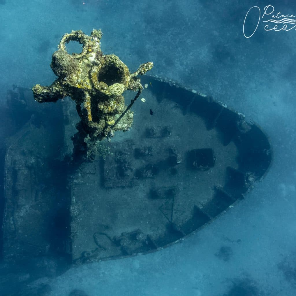 an eagle s point of view of the el aguila wreck
